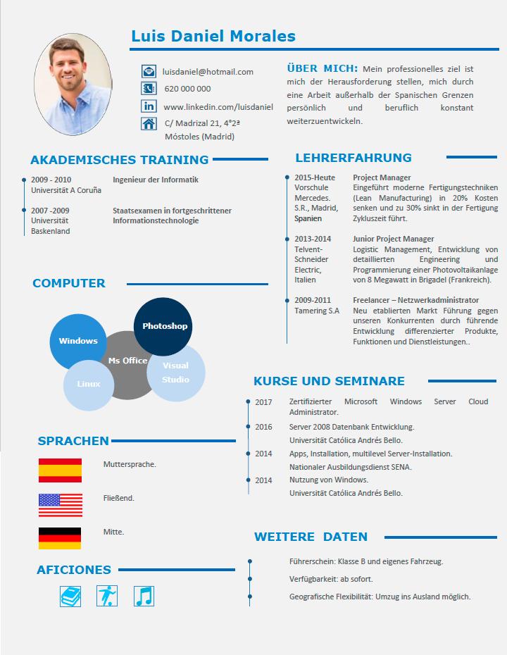 ejemplo de curriculum vitae profesional-aleman