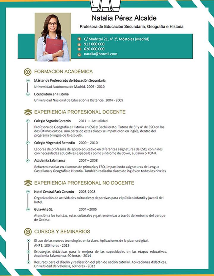 Plantillas De Curriculum De Profesor Elaboracion Del Curriculum