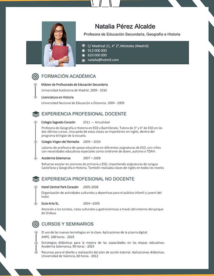 Plantillas De Curriculum De Profesores Cvexpres