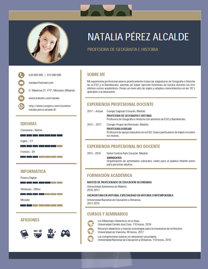 Plantillas De Curriculum De Profesor Elaboración Del Curriculum