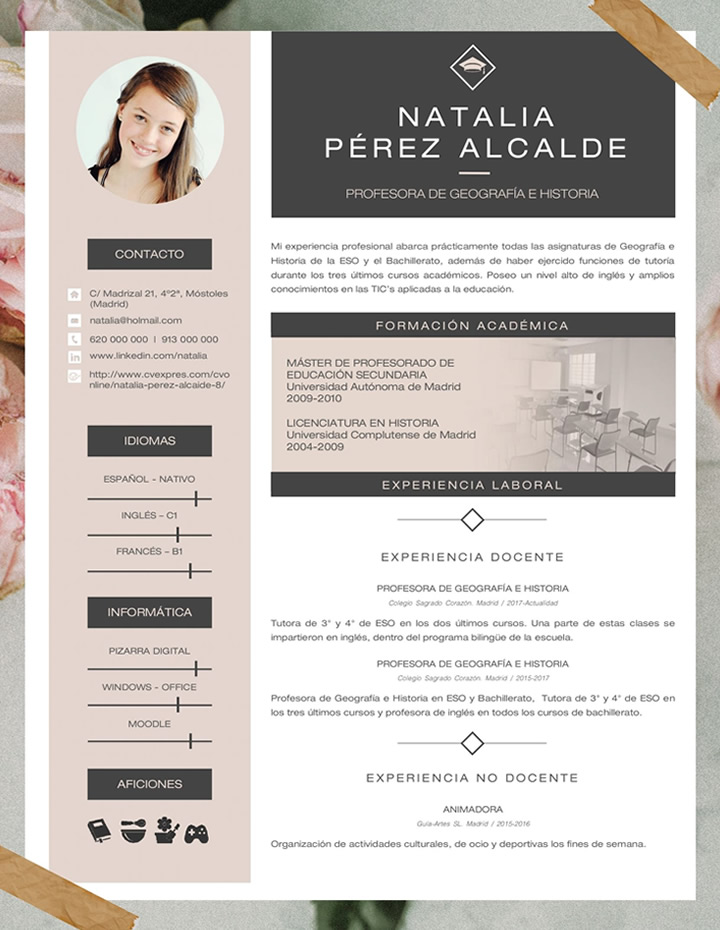 Elaboration Of A Resume In Spanish Cvexpress