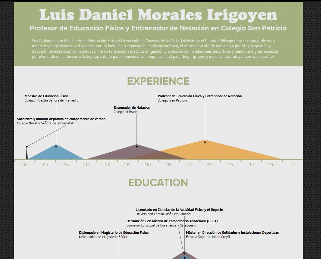 curriculum vitae modelo para colegios privados infografia