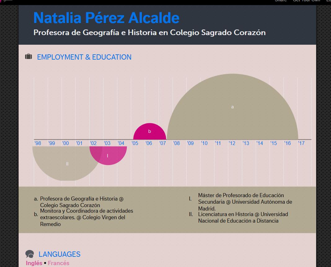 curriculum vitae modelo de ensenanza-infografia