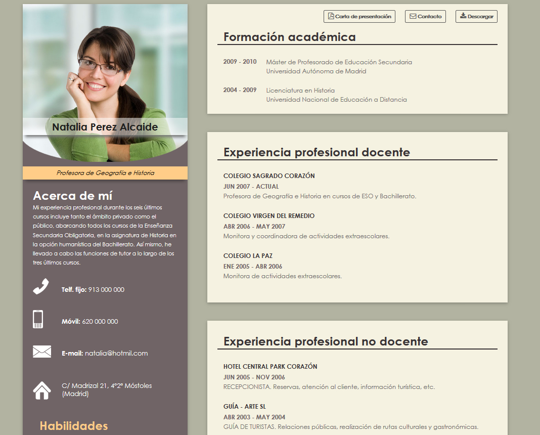 free samples cv  resume and resume to make cv for teacher