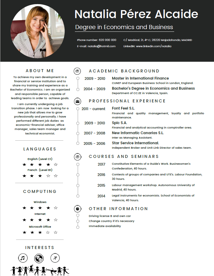 modelo curriculum vitae formato de curriculum vitae para