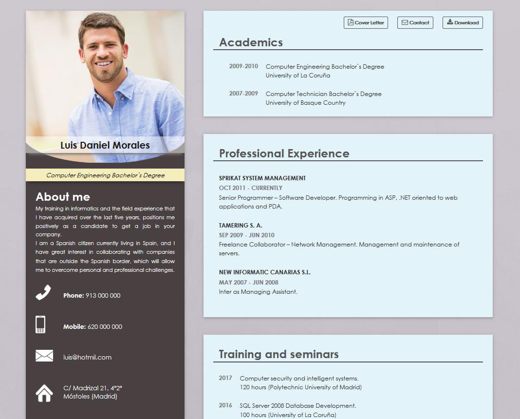 plantillas de curriculum online en ingl u00c9s