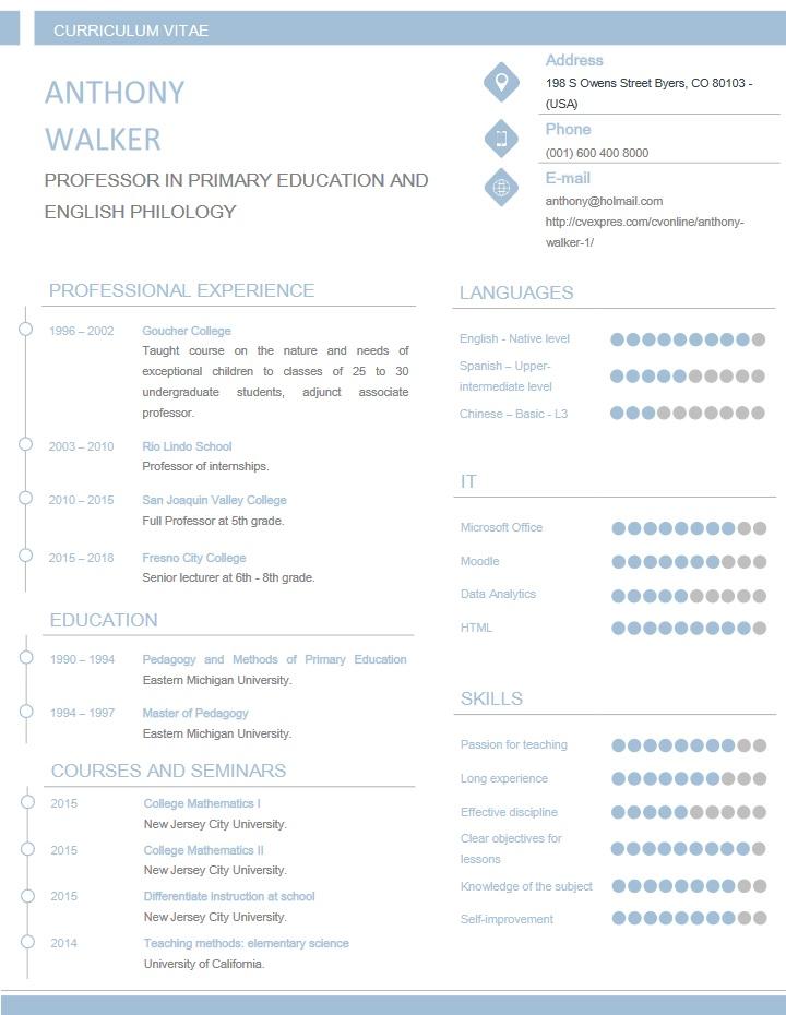 professional, teacher, resume