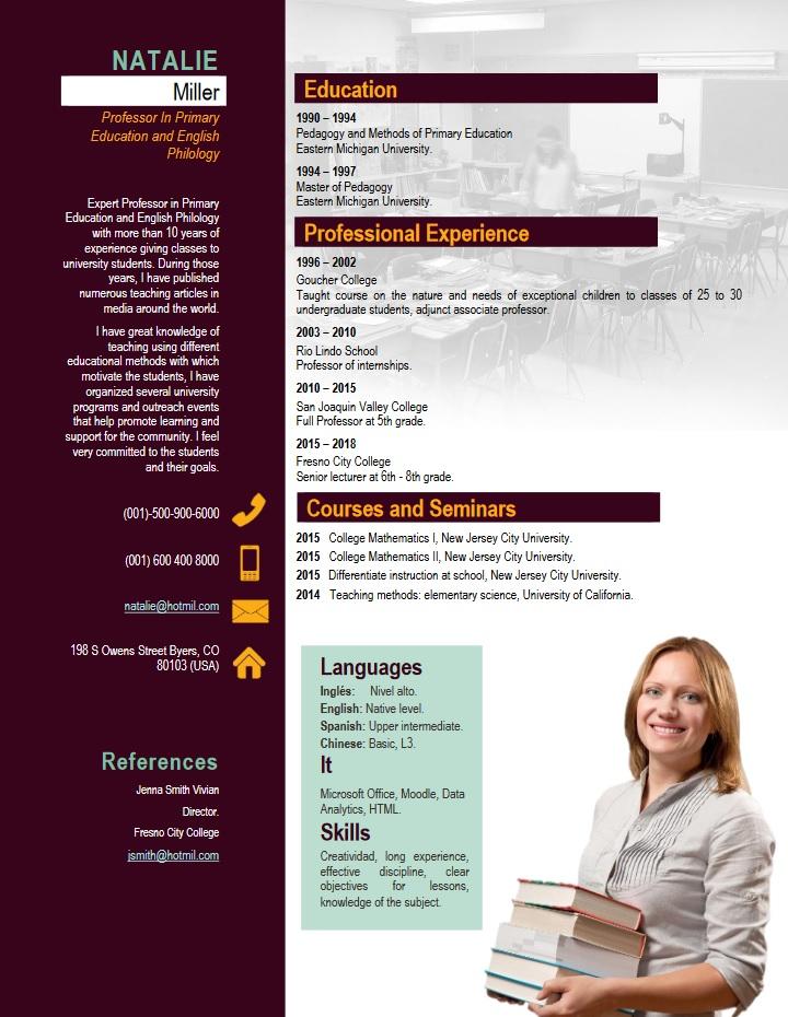 teacher, resume, examples