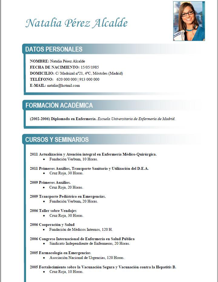 curriculum vitae medico formato word gratis