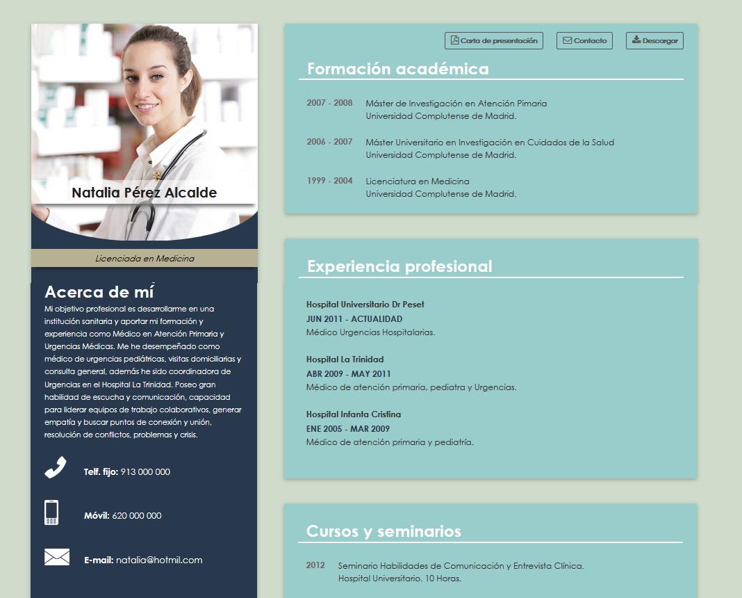 Cv Online Especializado En La Sanidad Cvexpres