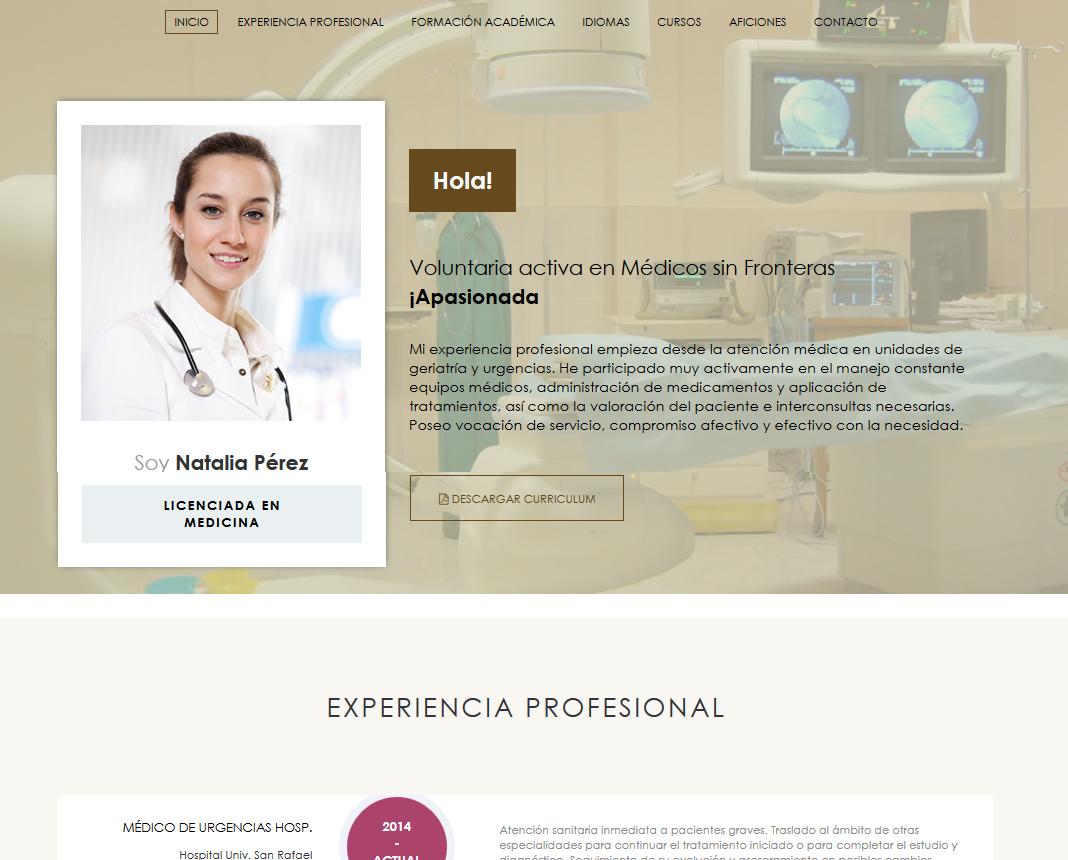 formato de curriculum vitae para hospitales y clinicas