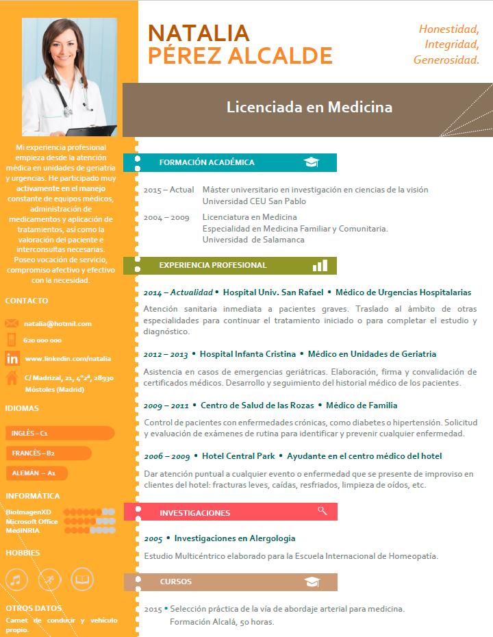 Curriculum Profesional | Plantillas de CV para empresas | cvExpres