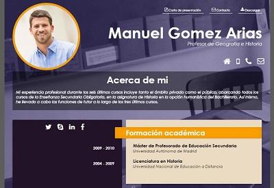 currículum online profesor n° 13 - para colegios privados