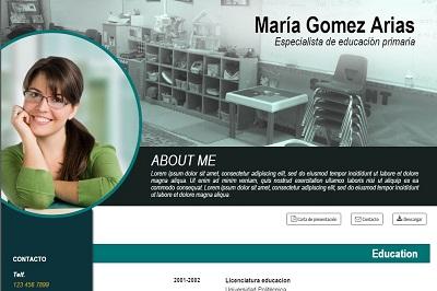 currículum online profesor n° 16 - para mandar a escuelas
