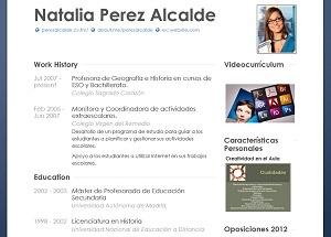 currículum online profesor n° 26 - para mandar a escuelas
