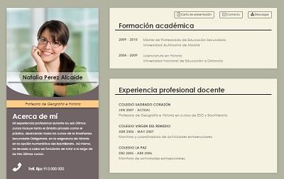 currículum online profesor n° 6 - empleo colegios privados