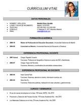 currículum profesor n° 31 - trabajo en colegios