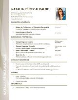 currículum profesor n° 4 para colegios privados