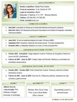 currículum profesor n° 38 - buscar empleo en colegios