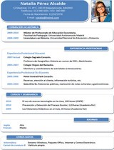 currículum profesor n° 20 - empleo colegios privados