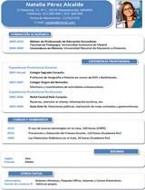 currículum profesor n° 6 enviar cv colegios