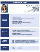 currículum profesor n° 29 para mandar a colegios