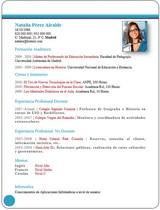 currículum profesor n° 32 empleo en colegios