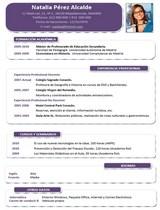 currículum profesor n° 45 para mandar a escuelas