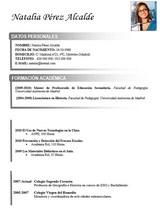currículum profesor n° 47 para mandar a colegios