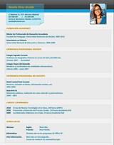 currículum profesor n° 8 empleo en colegios