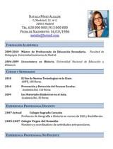 currículum profesor n° 51 para colegios privados