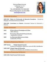currículum profesor n° 52 trabajo en colegios