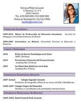 currículum profesor n° 53 trabajo en colegios