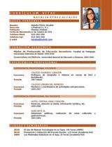 currículum profesor n° 57 para mandar a colegios