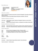 currículum profesor n° 62 para mandar a colegios
