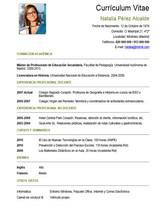 currículum profesor n° 65 para colegios privados