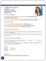currículum profesor n° 68 empleo colegios privados