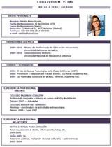 currículum profesor n° 80 para enviar a colegios