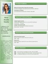 currículum profesor n° 81 trabajo colegios privados