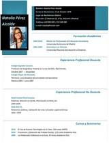 currículum profesor n° 82 trabajo colegios privados