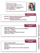 currículum profesor n° 13 para mandar a escuelas