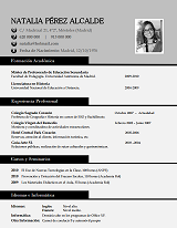currículum profesor n° 3 para mandar a colegios