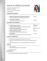 currículum profesor n° 74 para enviar a colegios