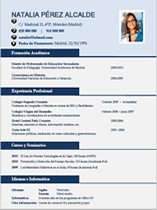 currículum profesor n° 3 para colegios privados