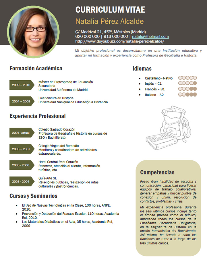 Elaboraci n del curriculum de profesores plantillas de cv for Concurso para profesores 2016