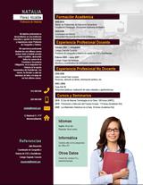currículum profesor n° 5 - para colegios privados