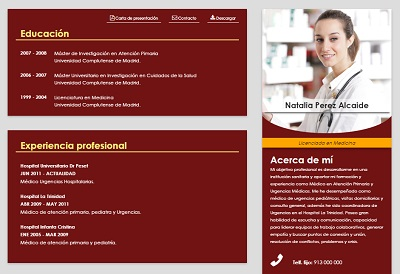 currículum online profesor n° 3 - enviar curriculum hoteles