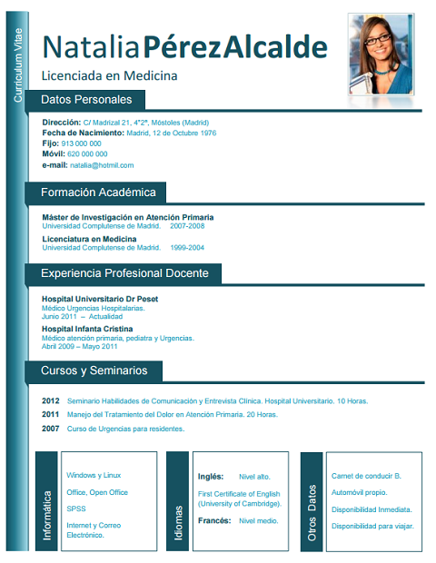 Formatos Cv Word Sivan Mydearest Co