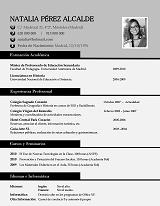 currículum profesor n° 8 - envio curriculum hoteles