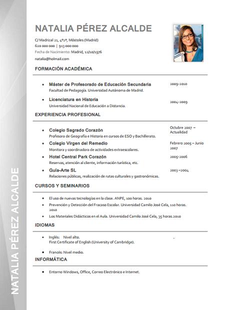 Formatos de curriculum vitae para llenar 2015